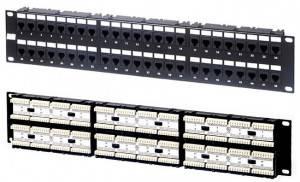 Патч-панель 19 Hyperline PP-19-48-6P4C-C2-1