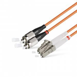 Шнур оптический (патч-корд) duplex LC-FC 50/125 mm (длина 10 м)-1