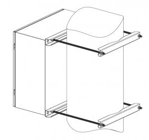 Комплект крепления на столб EMW-KKC-800-2