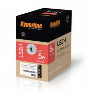 Кабель витая пара UTP Hyperline UUTP4-C5e-S24-IN-LSZH-GY-305-2