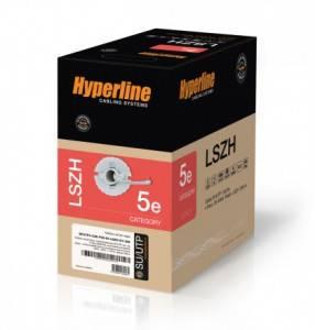 Витая пара STP Hyperline SFUTP4-C5E-P26-IN-LSZH-GY-305-2