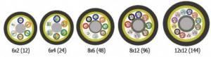 Волоконной-оптический кабель Hyperline FO-MB-IN/OUT-503-12-LSZH-BK-2
