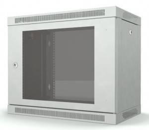OlmiOn ШРН-Р-9.650 Шкаф 19 разборный, телекоммуникационный 9U, глубина 650 мм, дверь стекло, цвет серый
