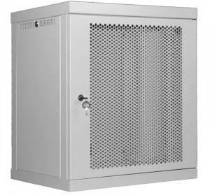 OlmiOn ШРН-Р-9.650.4 Шкаф 19 разборный, телекоммуникационный 9U, глубина 650 мм, дверь перфорация, цвет серый