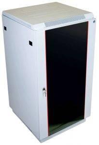ЦМО ШТК-М-27.6.6-1ААА Шкаф телекоммуникационный напольный 27U (600x600) дверь стекло-1