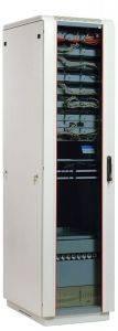 ЦМО ШТК-М-47.6.6-1ААА Шкаф телекоммуникационный напольный 47U (600х600) дверь стекло-1