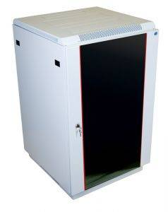 ЦМО ШТК-М-22.6.8-1ААА Шкаф телекоммуникационный напольный 22U (60x80 см) дверь стекло-1