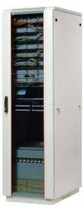 ЦМО ШТК-М-42.6.10-1ААА Шкаф телекоммуникационный напольный 42U (600x1000) дверь стекло-1