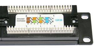 """Патч-панель 19"""" (1U) 24 порта RJ-45, категория 5е, Dual IDC-2"""