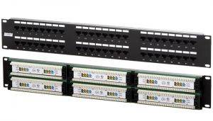 "Hyperline PP2-19-48-8P8C-C5e-110D Патч-панель 19"", 2U, 48 портов RJ-45, категория 5e, Dual IDC-1"