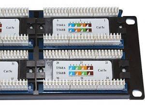 "Патч-панель 19"" (2U) 48 портов RJ-45, категория 5е, Dual IDC-2"