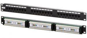 """Hyperline PP2-19-24-8P8C-C5e-110D Патч-панель 19"""", 1U 24 порта RJ-45, категория 5e, Dual IDC-1"""