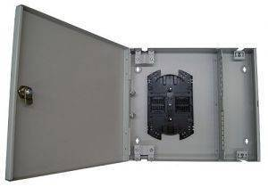 Кросс оптический настенный на 16 портов ST (FC) со сплайс-кассетой (без пигтейлов и проходных адаптеров)-1