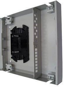 Кросс оптический настенный на 16 портов ST (FC) со сплайс-кассетой (без пигтейлов и проходных адаптеров)-2