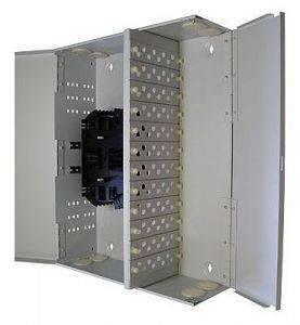 Кросс оптический настенный на 96 портов ST (FC) со сплайс-кассетой (без пигтейлов и проходных адаптеров)-2