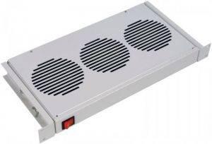 """MB-400-3 Модуль вентиляторный для шкафов 19"""" на 3 вентилятора 1U"""