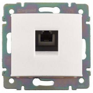 Legrand 774438 Модуль розетки RJ11, белый, Valena