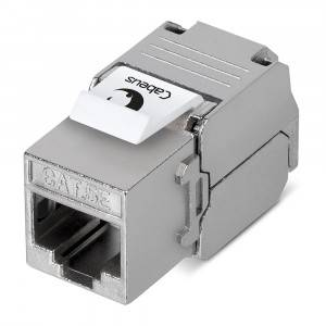 Вставка Keystone Cabeus KJ-RJ45-Cat.5e-SH-180-Toolless