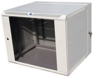 ЦМО ШРН-12.500-3С Шкаф телекоммуникационный настенный откидной 12U (600х520) дверь стекло-3