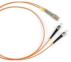 Шнур оптический (патч-корд) duplex LC-ST 50/125 mm (длина 10 м)-1
