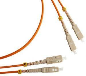 Шнур оптический (патч-корд) duplex SC-SC 50/125 mm (длина 2 м)-1