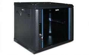 Шкаф настенный 19 дюймовый телекоммуникационный Hyperline TWFS-1245-SR-RAL9004