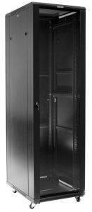 Шкаф 19 напольный серверный Hyperline TTC-4268-GS-RAL9004-1