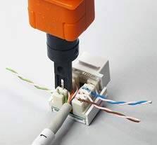 Оконцовка кабеля специнструментом